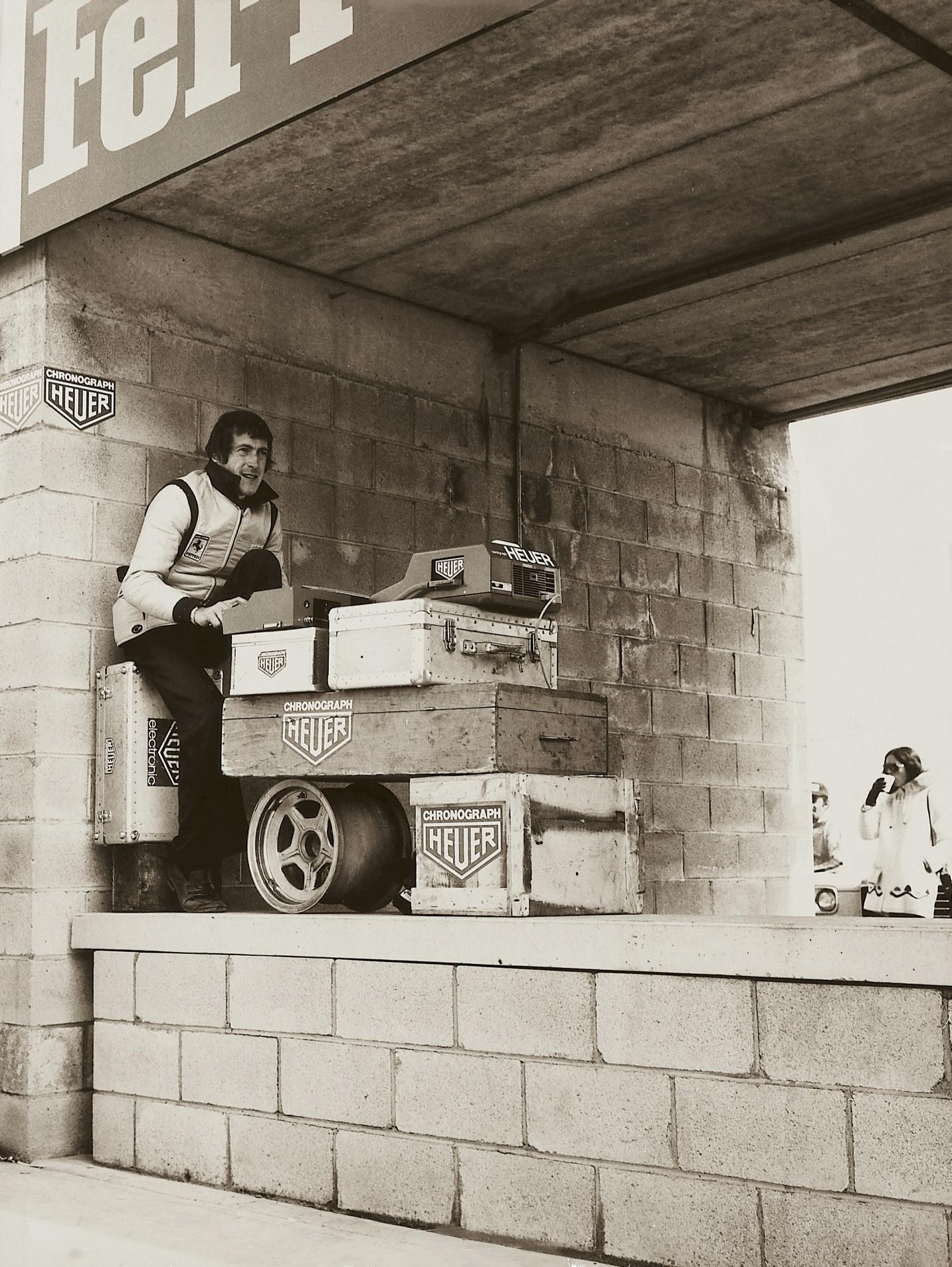 TAG Heuer Timekeeper Jean Campiche at Scuderia  Ferrari Fiorano Track.
