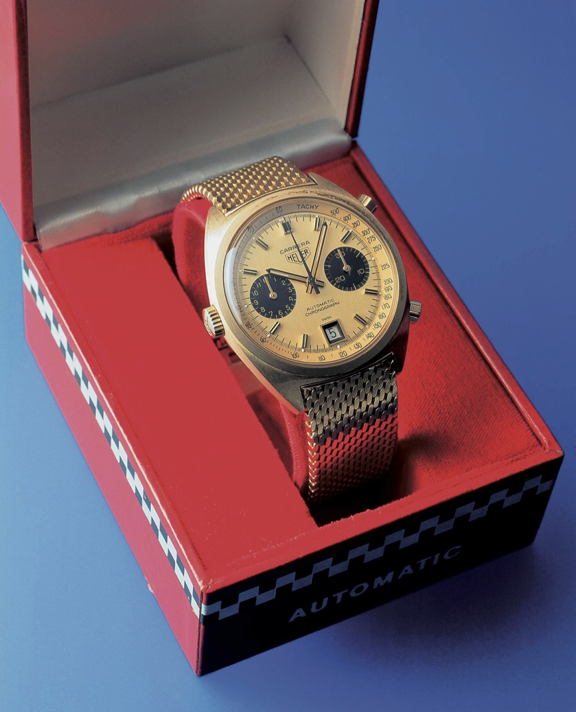 The 18 carat Gold Carrera made for the Scuderia Ferrari Drivers.