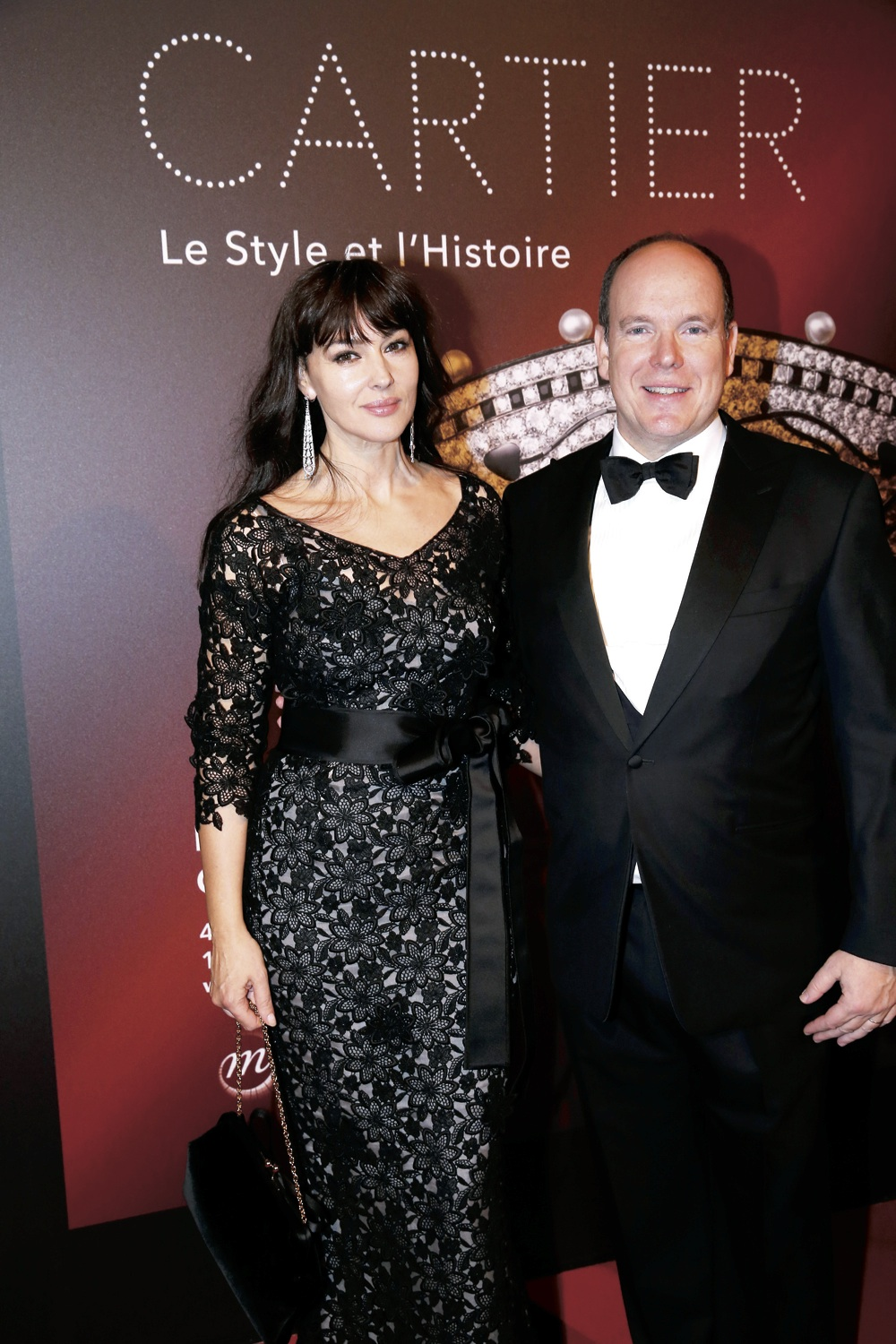 Monica Bellucci and Prince Albert in Cartier.