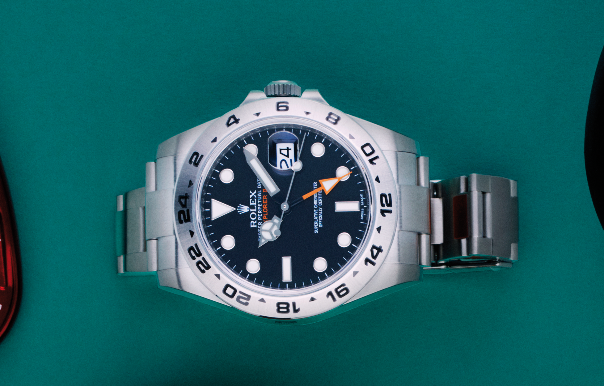 Rolex Explorer II in steel  with automatic movement,  price app. 9,700 USD, Nymans Ur 1851.
