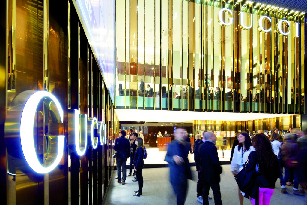 The Gucci group has an impressive space for all their brands.